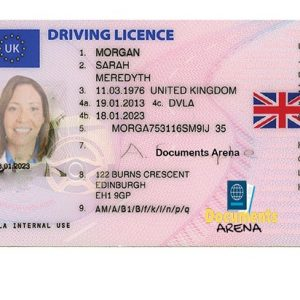 fake british driving license
