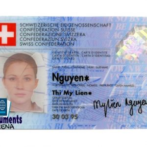 fake swiss id card