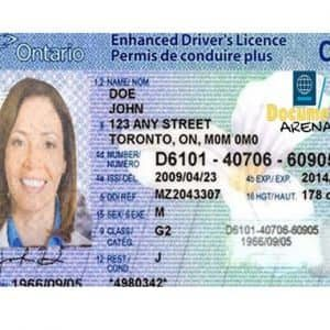 canadian driving license