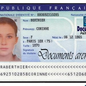 fake id card france