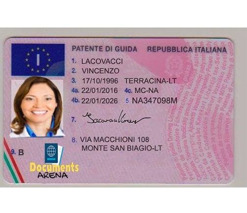 Italy Driver's Licence