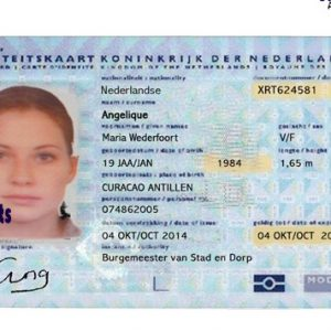 fake dutch id card