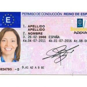spain driving licence